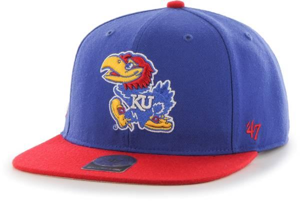 '47 Men's Kansas Jayhawks Blue Sure Shot Captain Adjustable Hat product image