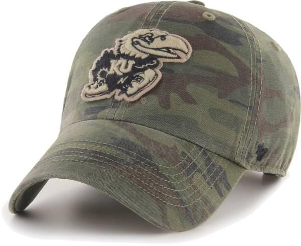 '47 Men's Kansas Jayhawks Camo OHT Movement Clean Up Adjustable Hat product image