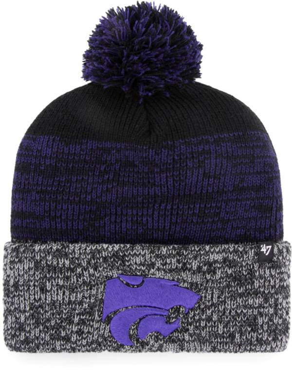 '47 Men's Kansas State Wildcats Static Cuffed Knit Black Hat product image