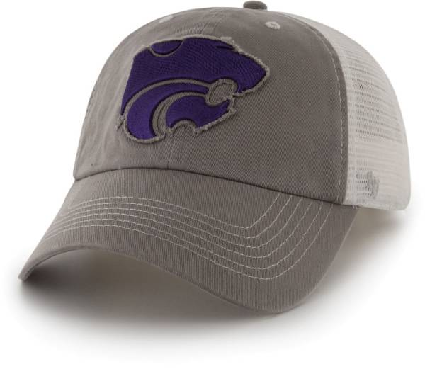 '47 Men's Kansas State Wildcats Grey Blue Mountain Closer Fitted Hat product image