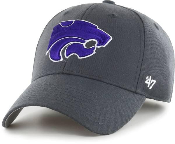 '47 Men's Kansas State Wildcats Grey MVP Adjustable Hat product image