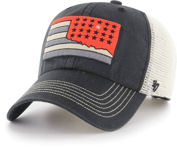 '47 Men's Oklahoma State Cowboys Springfield Clean Up Adjustable Black Hat product image