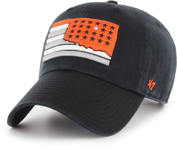 '47 Men's Oklahoma State Cowboys Sure Shot Clean Up Adjustable Black Hat product image