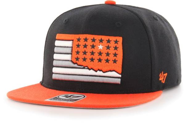 '47 Men's Oklahoma State Cowboys Black Sure Shot Captain Adjustable Hat product image