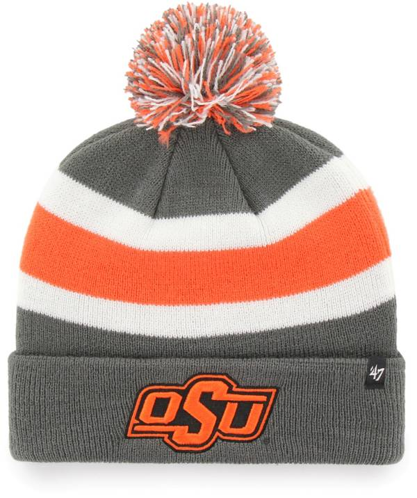 '47 Men's Oklahoma State Cowboys Grey Breakaway Cuffed Knit Hat product image