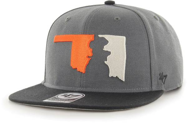 '47 Men's Oklahoma State Cowboys Grey Sure Shot Captain Adjustable Hat product image