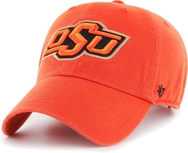 '47 Men's Oklahoma State Cowboys Orange Clean Up Adjustable Hat product image