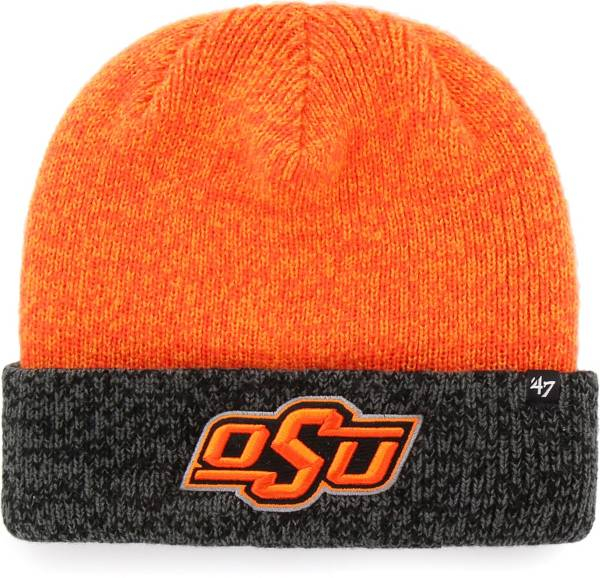 '47 Men's Oklahoma State Cowboys Orange Marl Two Tone Cuffed Knit Beanie product image