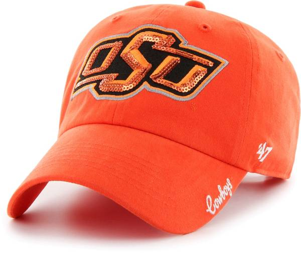 '47 Women's Oklahoma State Cowboys Orange Sparkle Clean Up Adjustable Hat product image
