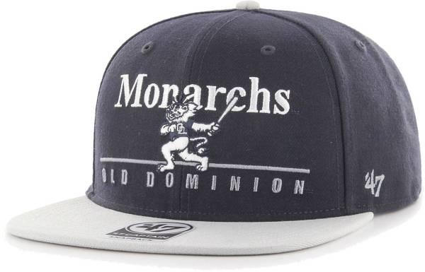 '47 Men's Old Dominion Monarchs Blue Rosemont Captain Adjustable Hat product image