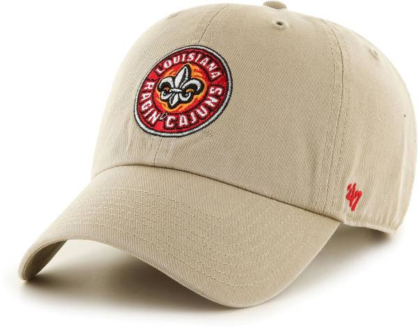 '47 Men's Louisiana-Lafayette Ragin' Cajuns Khaki Clean Up Adjustable Hat product image