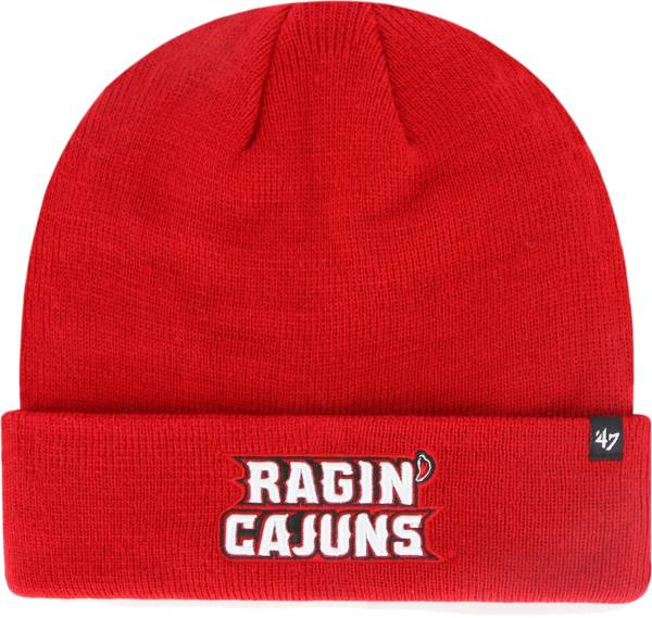 '47 Men's Louisiana-Lafayette Ragin' Cajuns Red Raised Cuffed Knit Beanie product image