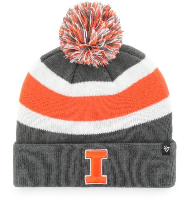 '47 Men's Illinois Fighting Illini Grey Breakaway Cuffed Knit Hat product image