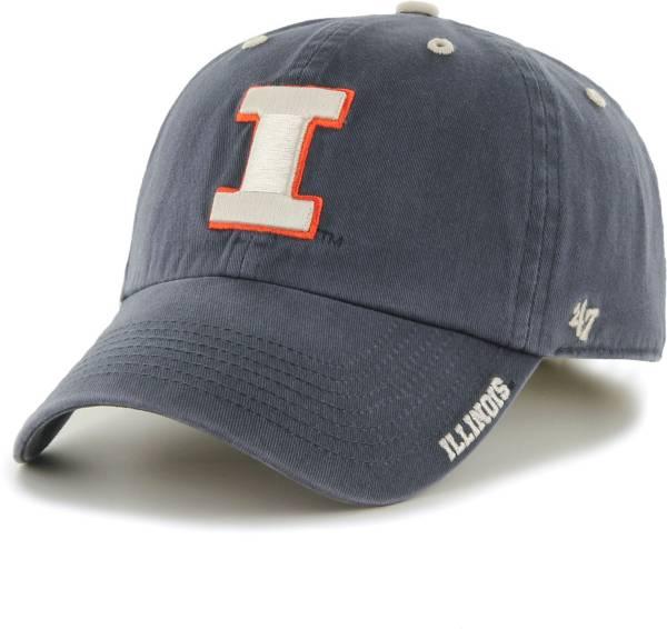 '47 Men's Illinois Fighting Illini Blue Ice Clean Up Adjustable Hat product image