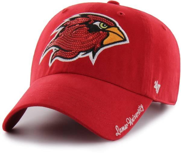 '47 Women's Lamar Cardinals Red Sparkle Clean Up Adjustable Hat product image