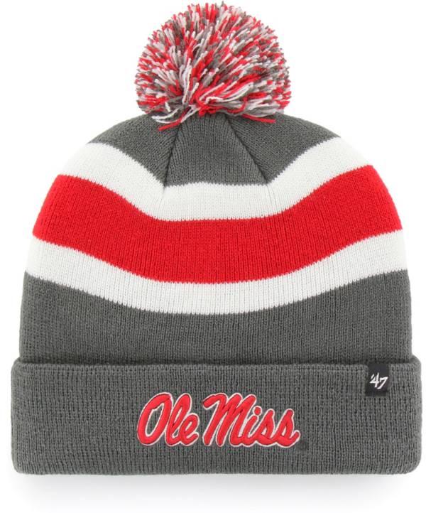 '47 Men's Ole Miss Rebels Grey Breakaway Cuffed Knit Hat product image