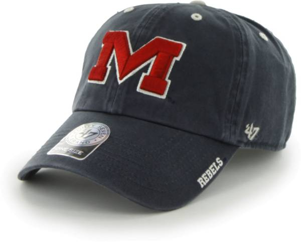 '47 Men's Ole Miss Rebels Blue Ice Clean Up Adjustable Hat product image