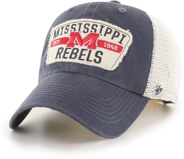 '47 Men's Ole Miss Rebels Blue Crawford Clean Up Adjustable Hat product image