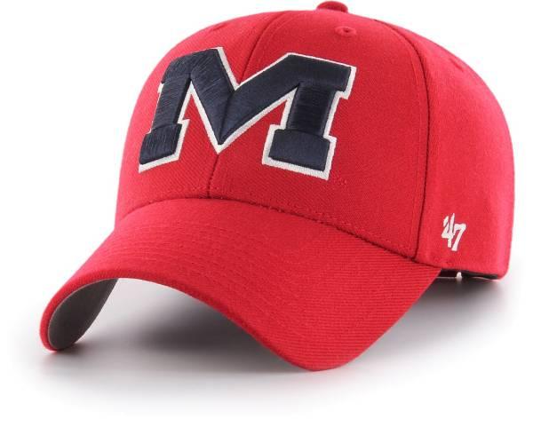 '47 Men's Ole Miss Rebels Red MVP Adjustable Hat product image