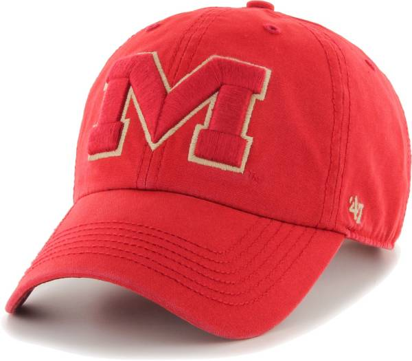 '47 Men's Ole Miss Rebels Red Clean Up Adjustable Hat product image