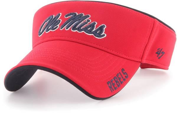 '47 Men's Ole Miss Rebels Red Top Rope Adjustable Visor product image