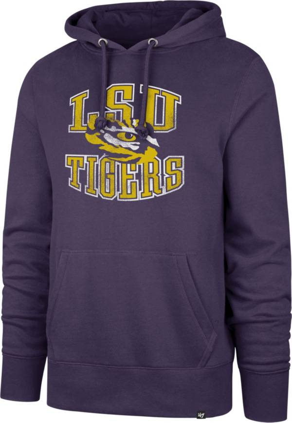 '47 Men's LSU Tigers Purple Headline Pullover Hoodie product image