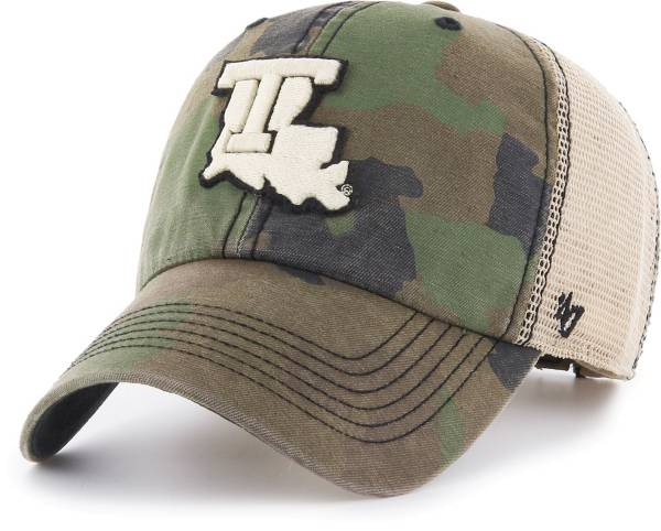 '47 Men's Louisiana Tech Bulldogs Camo Burnett Clean Up Adjustable Hat product image