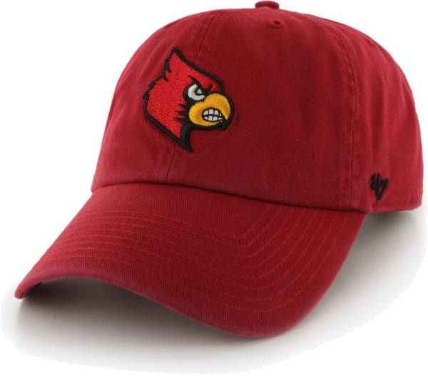 '47 Men's Louisville Cardinals Cardinal Red Clean Up Adjustable Hat product image
