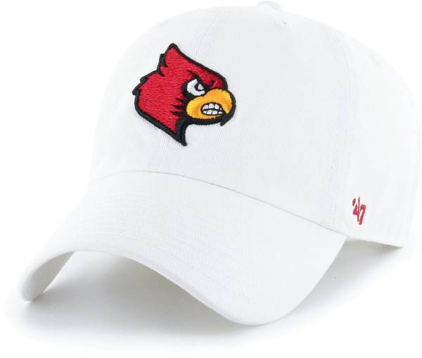 '47 Men's Louisville Cardinals Clean Up Adjustable White Hat product image
