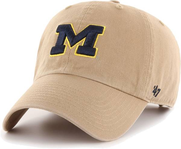 '47 Men's Michigan Wolverines Khaki Clean Up Adjustable Hat product image