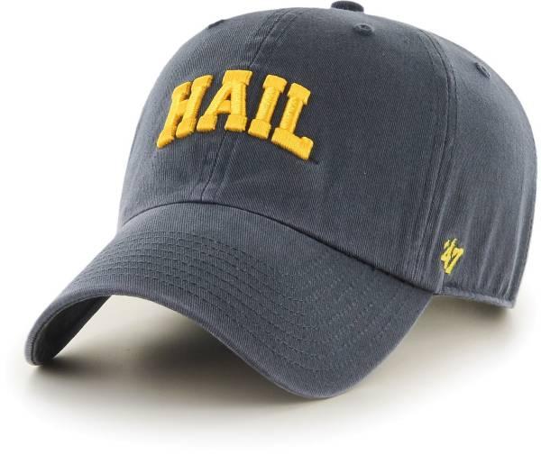 '47 Men's Michigan Wolverines Blue Script Clean Up Adjustable Hat product image