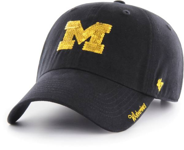 '47 Women's Michigan Wolverines Blue Sparkle Clean Up Adjustable Hat product image
