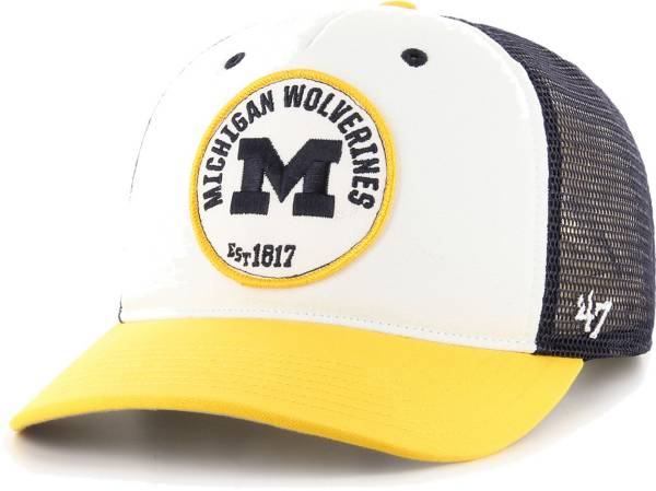 '47 Men's Michigan Wolverines Swell MVP Snapback Adjustable White Hat product image