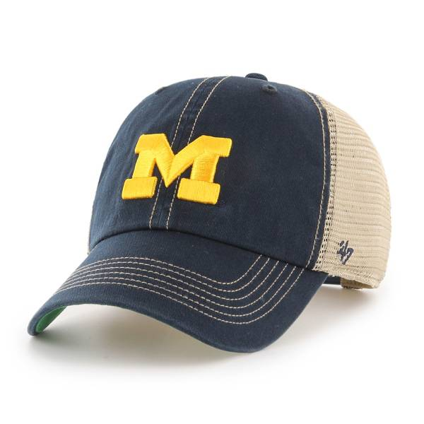 '47 Men's Michigan Wolverines Navy Trawler Clean Up Adjustable Hat product image