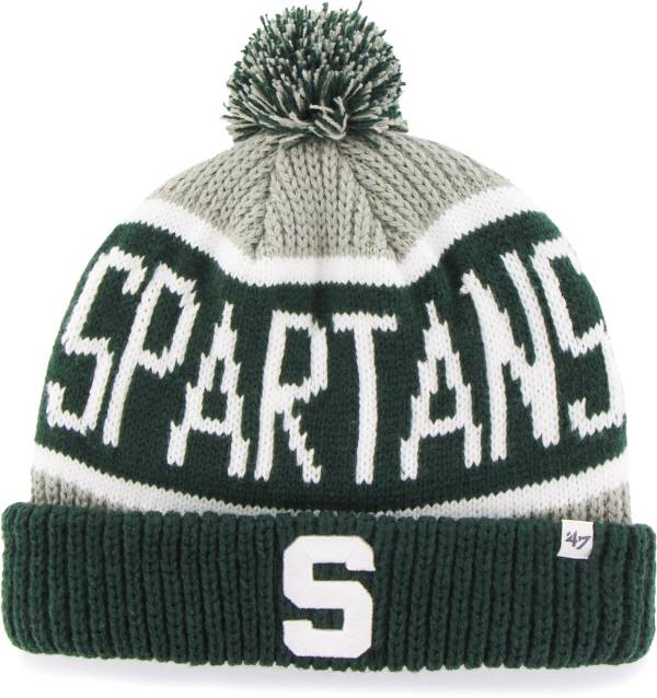 '47 Men's Michigan State Spartans Grey Calgary Cuffed Knit Hat product image