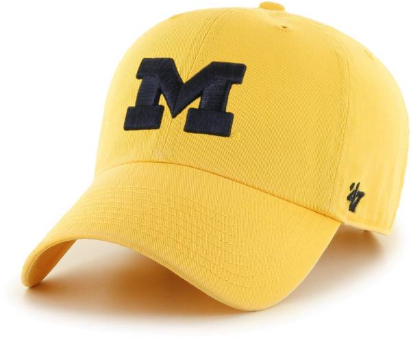 '47 Men's Michigan Wolverines Maize Clean Up Adjustable Hat product image
