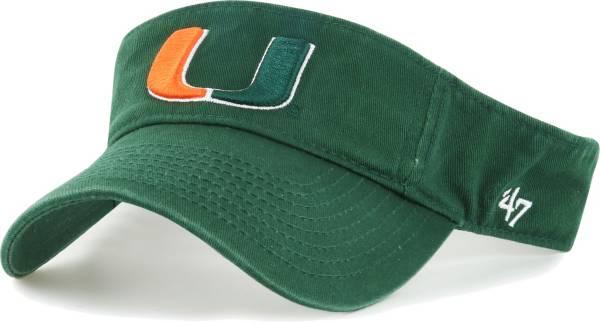 '47 Men's Miami Hurricanes Green Clean Up Adjustable Visor product image