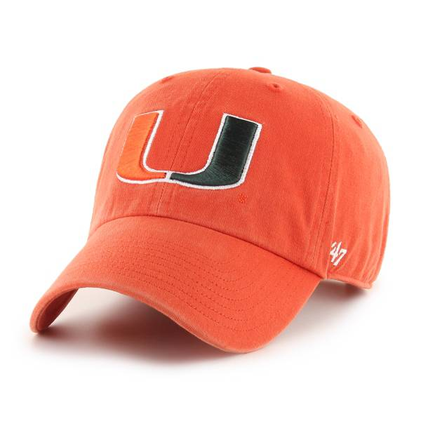 '47 Men's Miami Hurricanes Clean Up Adjustable Hat product image