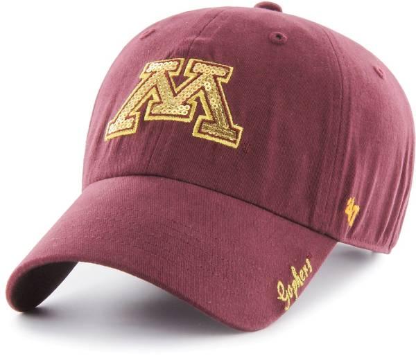 '47 Women's Minnesota Golden Gophers Maroon Sparkle Clean Up Adjustable Hat product image