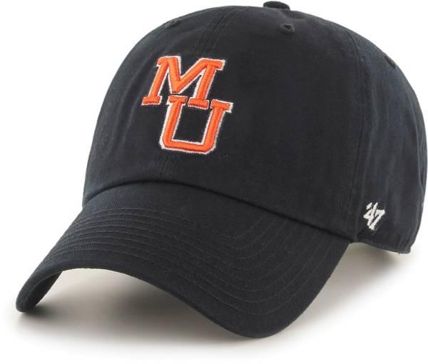 '47 Men's Mercer Bears Clean Up Adjustable Black Hat product image