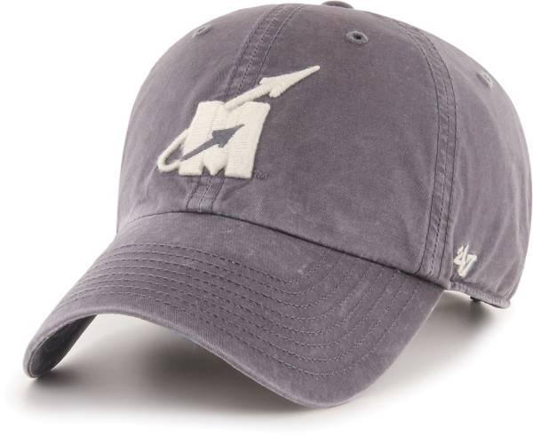 '47 Men's Mississippi State Bulldogs Hudson Clean Up Adjustable Black Hat product image