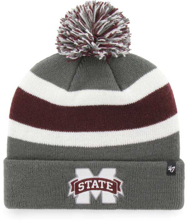 '47 Men's Mississippi State Bulldogs Grey Breakaway Cuffed Knit Hat product image