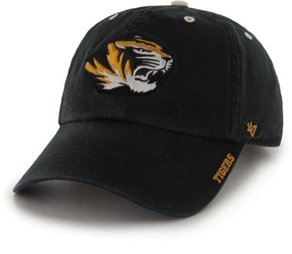 '47 Men's Missouri Tigers Ice Clean Up Adjustable Black Hat product image