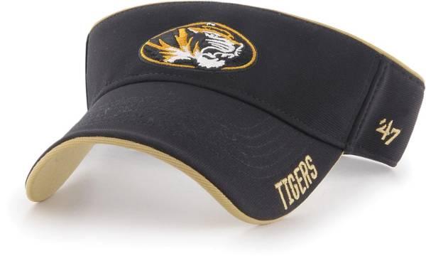 '47 Men's Missouri Tigers Top Rope Adjustable Black Visor product image