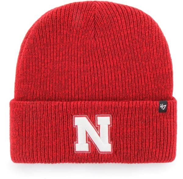 '47 Men's Nebraska Cornhuskers Brown Brain Freeze Cuffed Knit Beanie product image