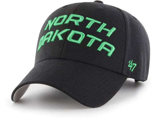 '47 Men's North Dakota Fighting Hawks Script MVP Adjustable Black Hat product image