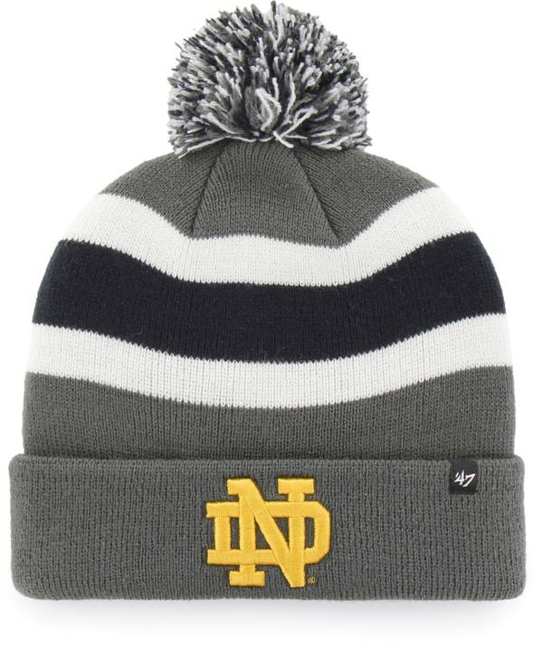 '47 Men's Notre Dame Fighting Irish Grey Breakaway Cuffed Knit Hat product image