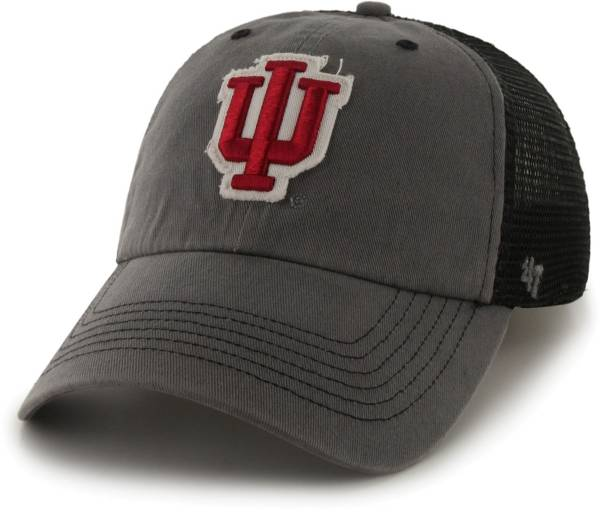 '47 Men's Indiana Hoosiers Grey Blue Mountain Closer Fitted Hat product image