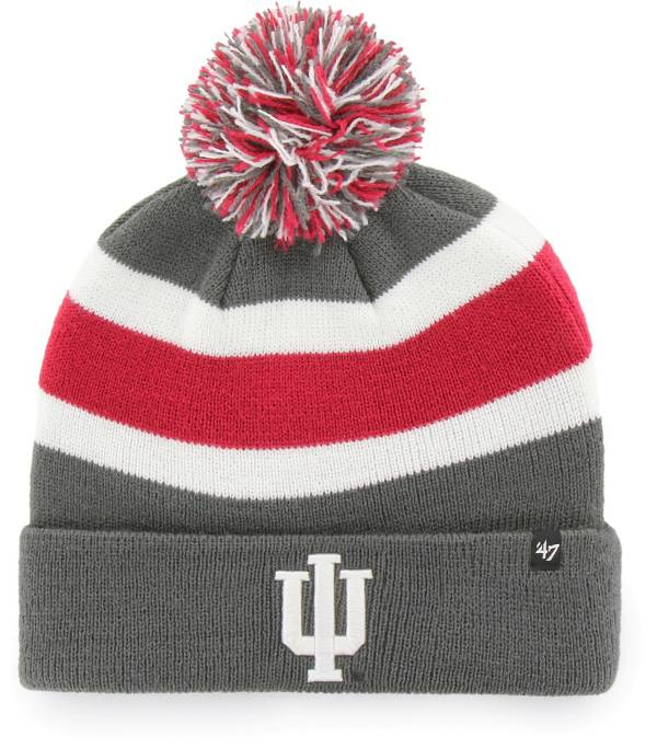 '47 Men's Indiana Hoosiers Grey Breakaway Cuffed Knit Hat product image