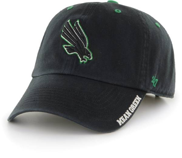 '47 Men's North Texas Mean Green Ice Clean Up Adjustable Black Hat product image